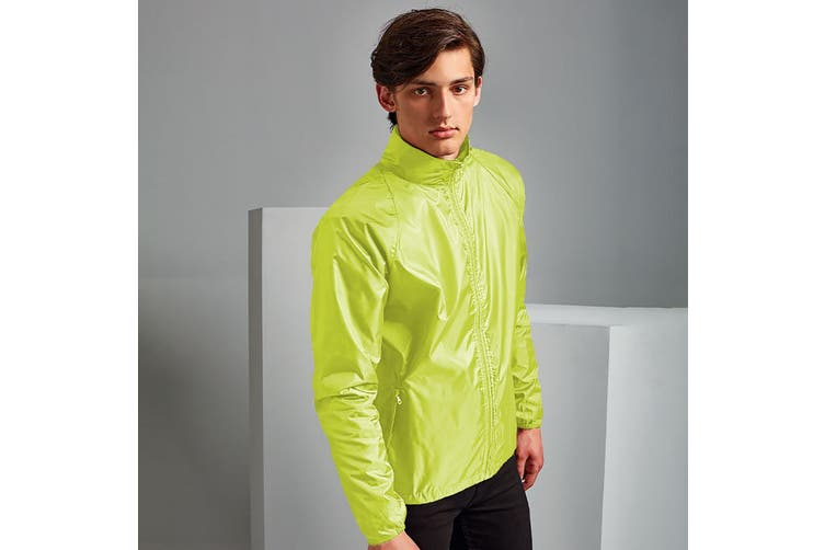 2786 Unisex Lightweight Plain Wind & Shower Resistant Jacket (Yellow) (XL)