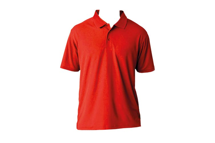 AWDis Cool Mens SuperCool Sports Performance Short Sleeve Polo Shirt (Fire Red) (L)