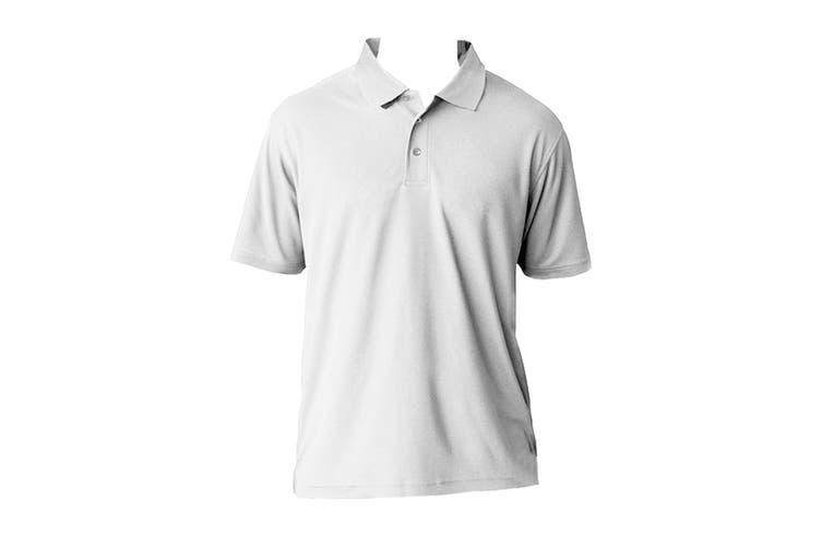 AWDis Cool Mens SuperCool Sports Performance Short Sleeve Polo Shirt (Arctic White) (L)
