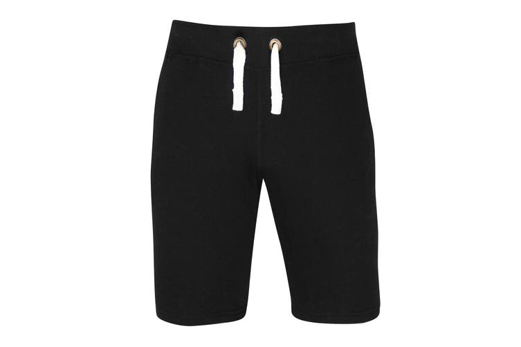 AWDis Hoods Plain Heavyweight Campus Shorts (Jet Black) (S)