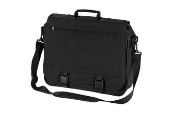BagBase Portfolio Briefcase Bag (Black) (One Size)