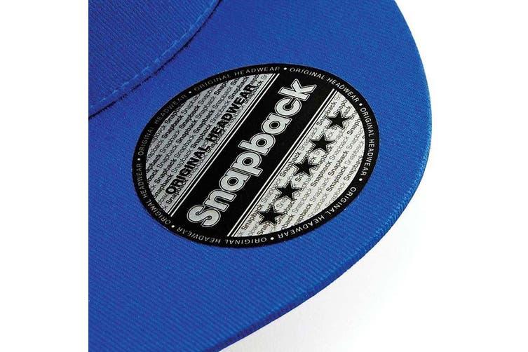 Beechfield Unisex 5 Panel Retro Rapper Cap (Bright Royal) (One Size)
