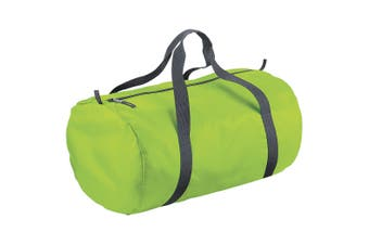 BagBase Packaway Barrel Bag / Duffle Water Resistant Travel Bag (32 Litres) (lime Green) (One Size)