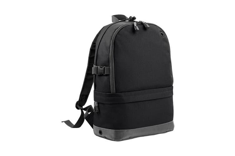 BagBase Backpack / Rucksack Bag (18 Litres Laptop Up To 15.6 Inch) (Black) (One Size)