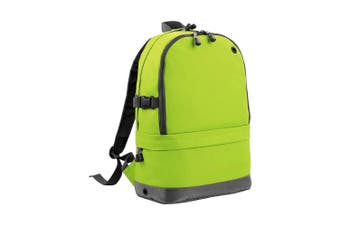 BagBase Backpack / Rucksack Bag (18 Litres Laptop Up To 15.6 Inch) (Lime Green) (One Size)