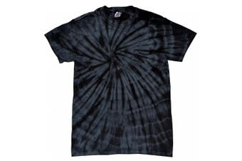 Colortone Childrens Unisex Tonal Spider Short Sleeve T-Shirt (Spider Black) (XS)