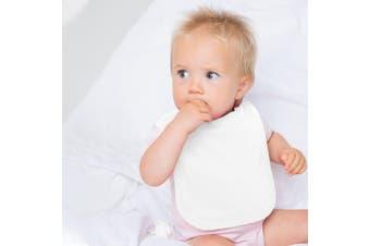 Larkwood Baby Unisex Plain & Contrast Bib (Pale Pink) (One Size)