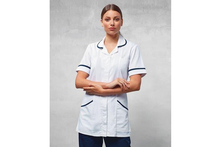 Premier Ladies/Womens Vitality Medical/Healthcare Work Tunic (White/ Navy) (20)