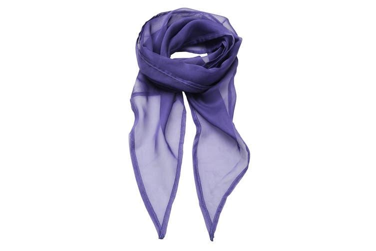 Premier Ladies/Womens Work Chiffon Formal Scarf (Purple) (One Size)