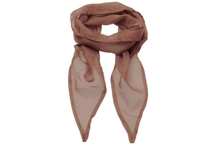 Premier Ladies/Womens Work Chiffon Formal Scarf (Mocha) (One Size)