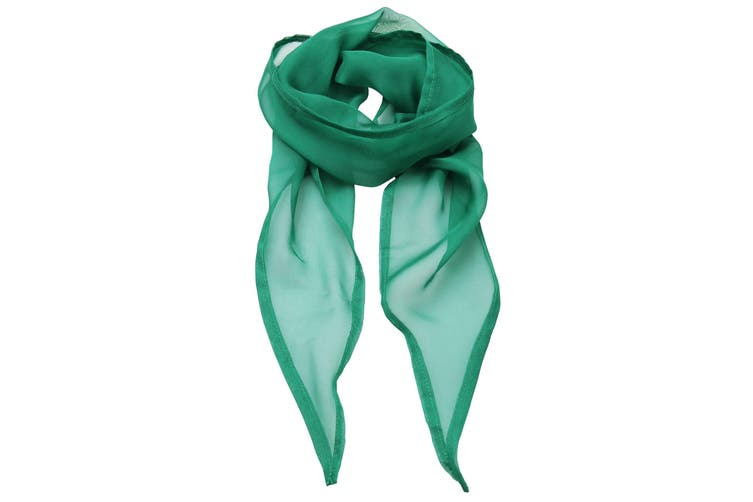 Premier Ladies/Womens Work Chiffon Formal Scarf (Emerald) (One Size)