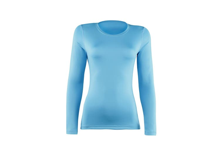 Rhino Womens/Ladies Sports Baselayer Long Sleeve (Light Blue) (10)