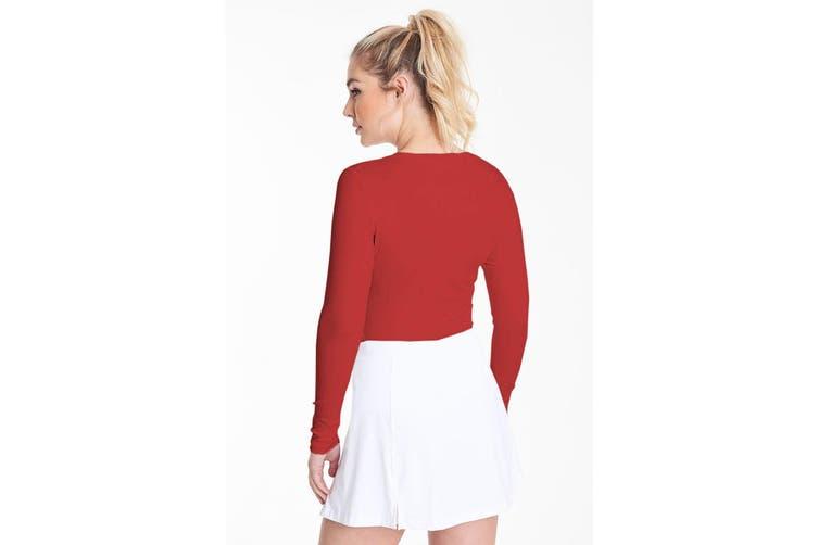 Rhino Womens/Ladies Sports Baselayer Long Sleeve (Red) (10)