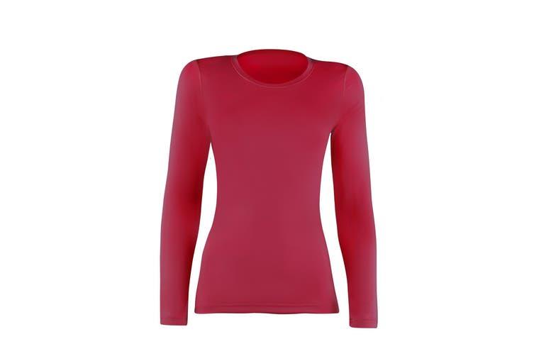 Rhino Womens/Ladies Sports Baselayer Long Sleeve (Red) (16)