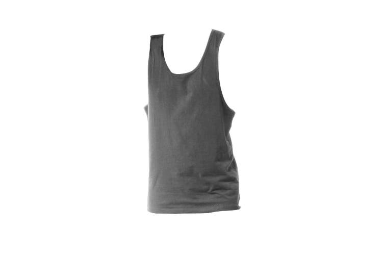 Tanx Mens Vest Sleeveless Vest Top / Muscle Vest (Heather Grey) (XS)