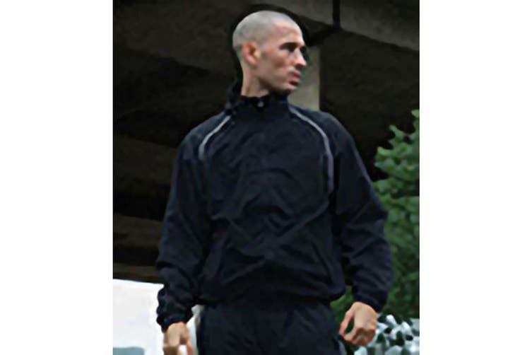 Tombo Mens Teamsport Start Line Sports Training Track Jacket (Black/ White piping) (2XL)