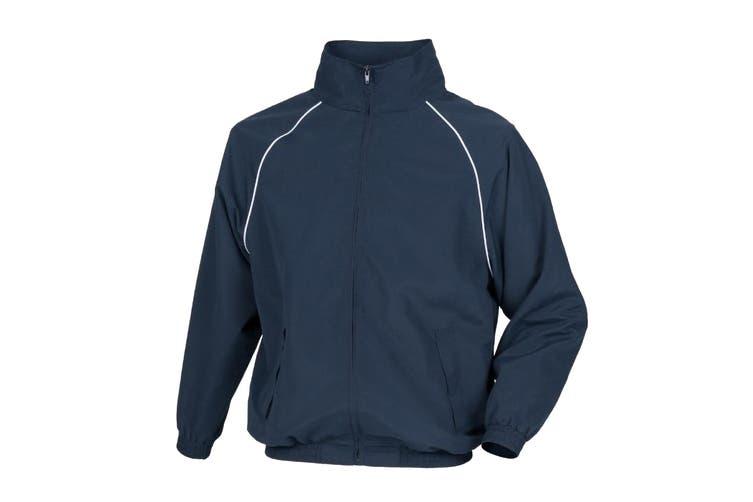 Tombo Mens Teamsport Start Line Sports Training Track Jacket (Navy/ White piping) (3XL)