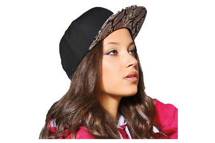 Yupoong Mens Fashion Print Premium Snapback Cap (Black/ Bandana Black) (One Size)