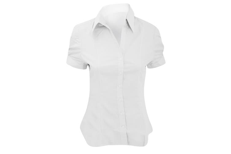 Brook Taverner Ladies/Womens Paduli Short Sleeve Blouse (White) (8)