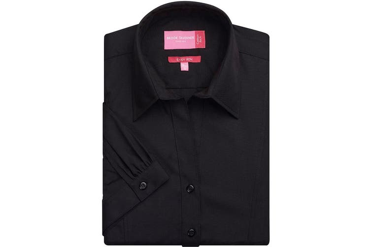 Brook Taverner Ladies/Womens Paduli Short Sleeve Blouse (Black) (18)