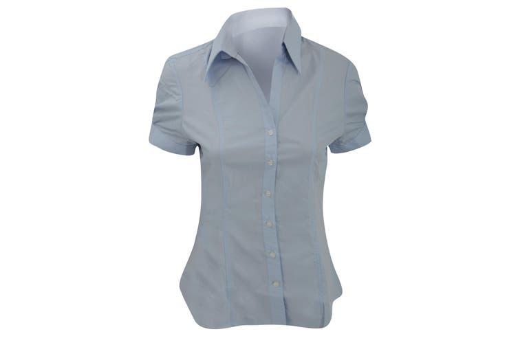 Brook Taverner Ladies/Womens Paduli Short Sleeve Blouse (Blue) (20)