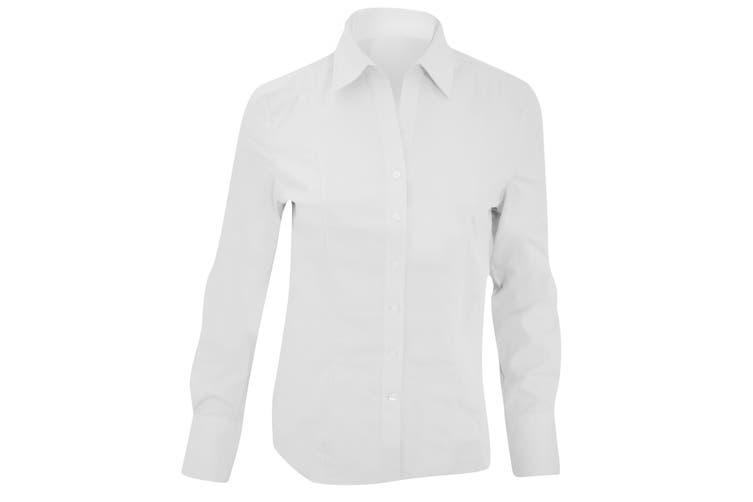 Brook Taverner Ladies/Womens Palena Long Sleeve Blouse (White) (14)