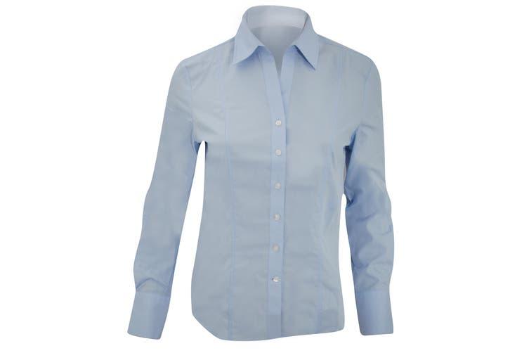 Brook Taverner Ladies/Womens Palena Long Sleeve Blouse (Blue) (10)