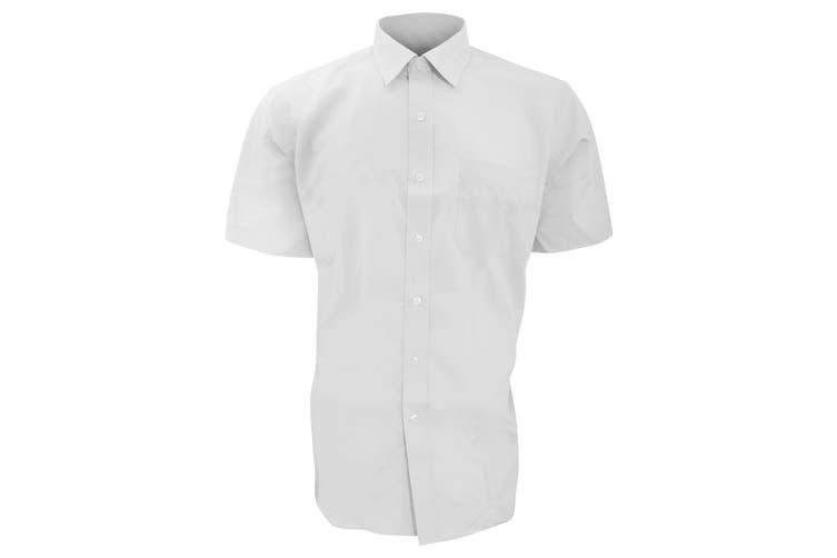 Brook Taverner Mens Rosello Short Sleeve Shirt (White) (19)