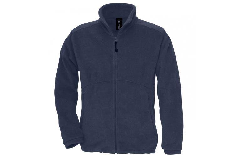 B&C Mens Icewalker+ Full Zip Fleece Top (Navy) (XS)