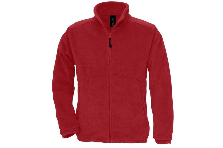 B&C Mens Icewalker+ Full Zip Fleece Top (Red) (L)