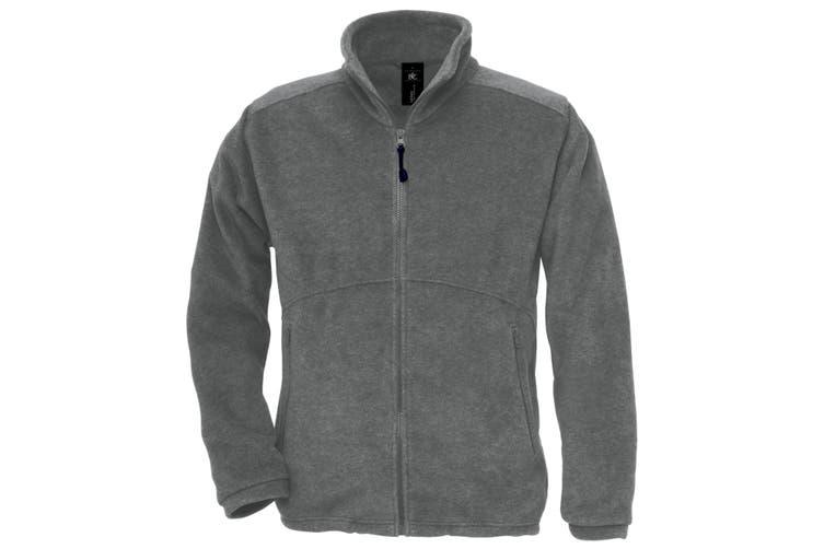 B&C Mens Icewalker+ Full Zip Fleece Top (Charcoal) (L)