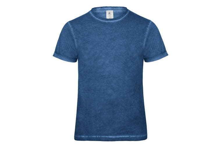 B&C Denim Mens Plug In Short Sleeve T-Shirt (Jazzberry Clash) (L)