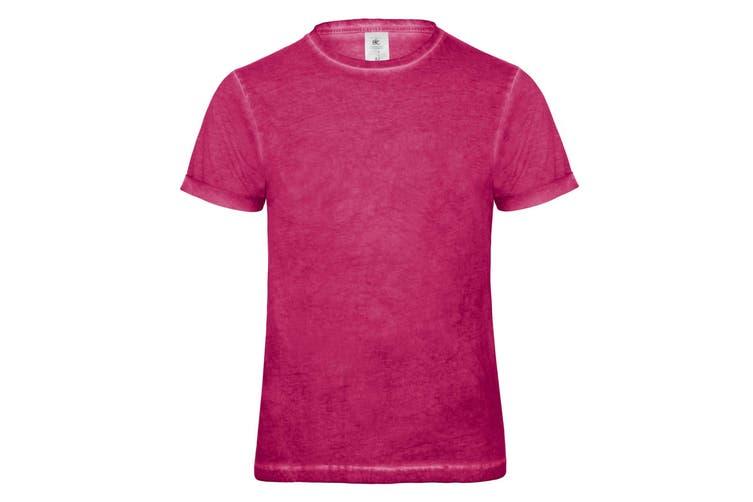 B&C Denim Mens Plug In Short Sleeve T-Shirt (Blue Clash) (M)