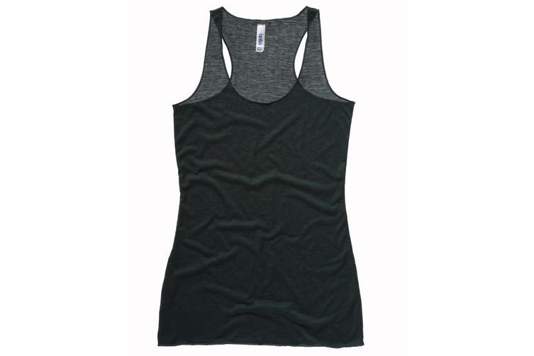 Bella + Canvas Womens/Ladies Triblend Racerback Tank Vest Top (Emerald Triblend) (L)