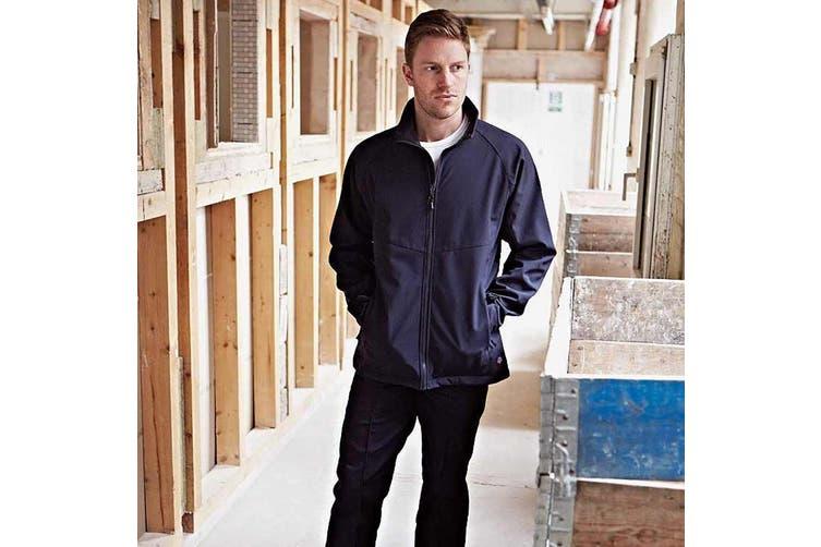 Dickies Mens Water Resistant Softshell Jacket / Workwear (Navy) (XL)
