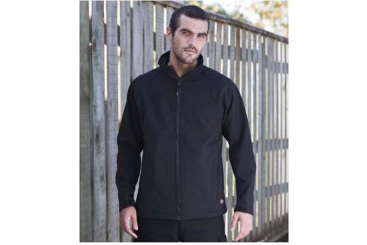 Dickies Mens Water Resistant Softshell Jacket / Workwear (Navy) (L)