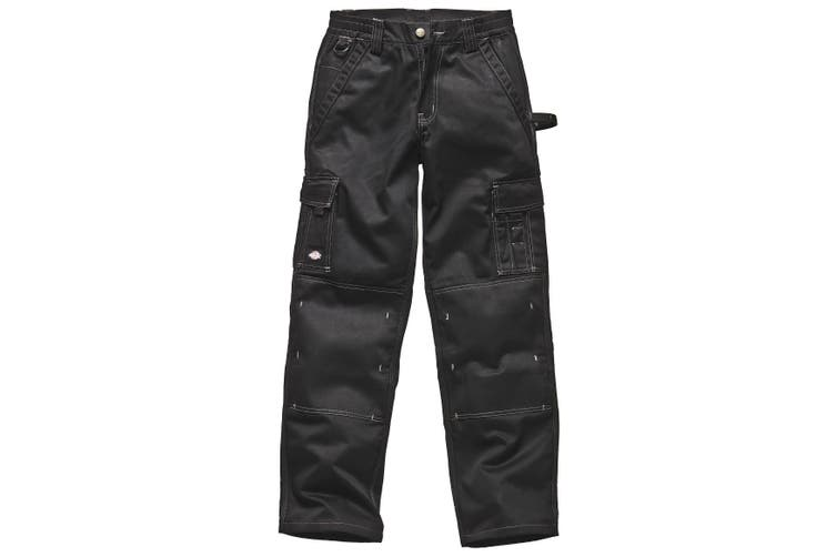 Dickies Mens Industry 300 Two-Tone Work Trousers (Regular And Tall) / Workwear (Black) (30T)