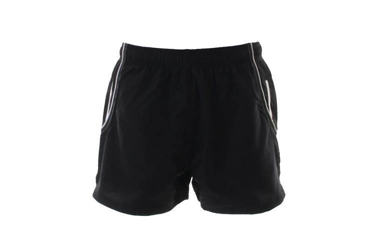 Gamegear® Womens/Ladies Cooltex® Active Training Shorts (Black / White) (8)