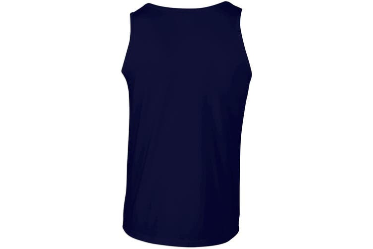 Gildan Mens Softstyle® Tank Vest Top (Navy) (S)
