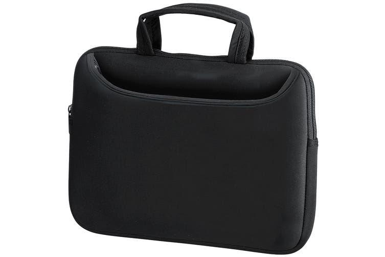 Quadra Neoprene Tablet/Laptop Shuttle Travel Bag (Black) (S)
