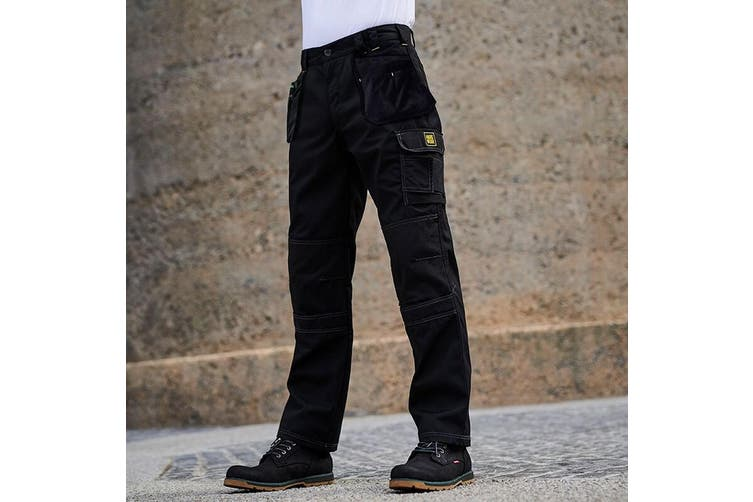 Regatta Mens Holster Workwear Trousers (Short, Regular And Long) (Black) (46L)