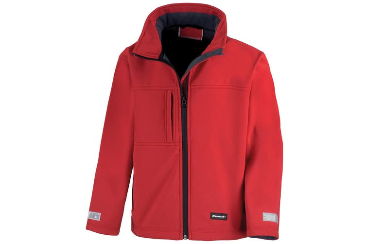 Result Childrens Unisex Waterproof Classic Softshell 3 Layer Jacket (Red) (2XL)