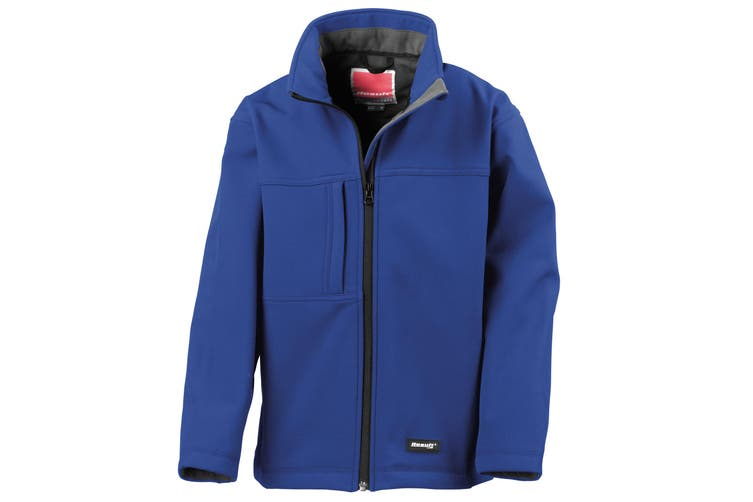 Result Childrens Unisex Waterproof Classic Softshell 3 Layer Jacket (Royal) (XS)