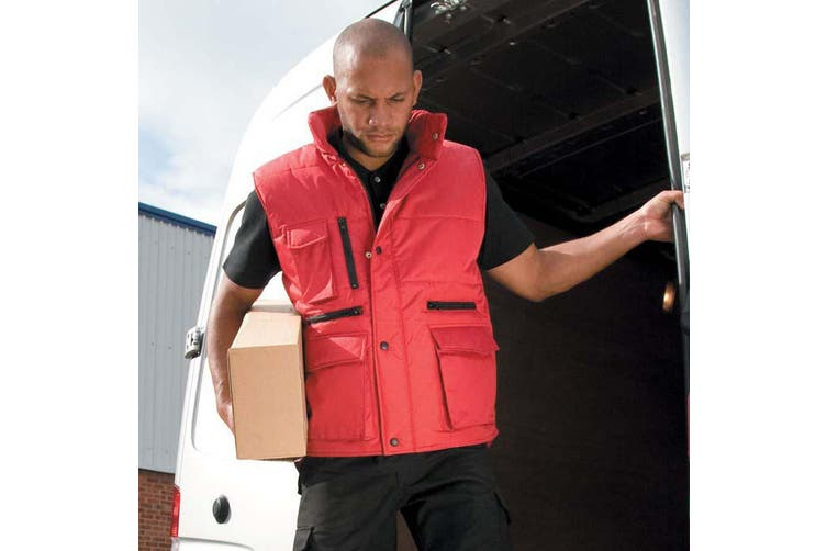 Result Mens Lance Bodywarmer / Gilet (Windproof & Showerproof) (Red) (M)