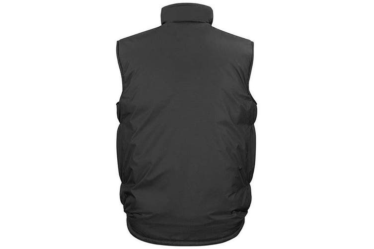 Result Adults Unisex Ripstop Bodywarmer / Gilet (Black/ Grey) (M)