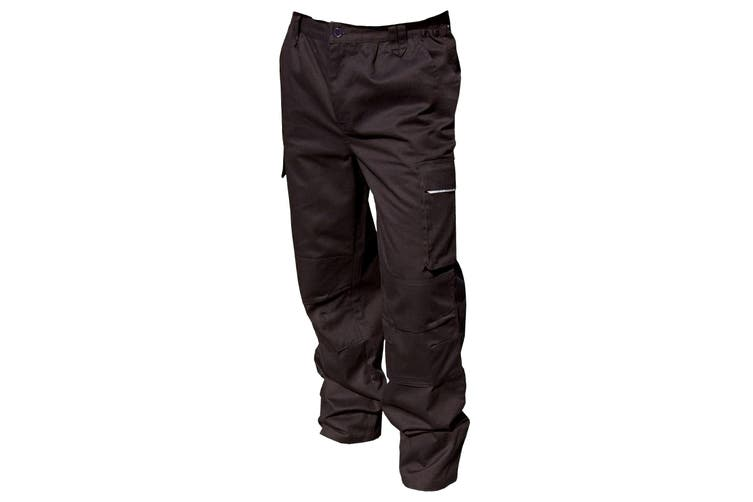 Result Unisex Work-Guard Windproof Action Trousers / Workwear (Black) (XLR)