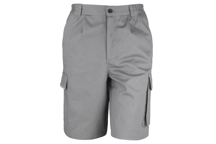 Result Unisex Work-Guard Action Shorts / Workwear (Grey) (S)