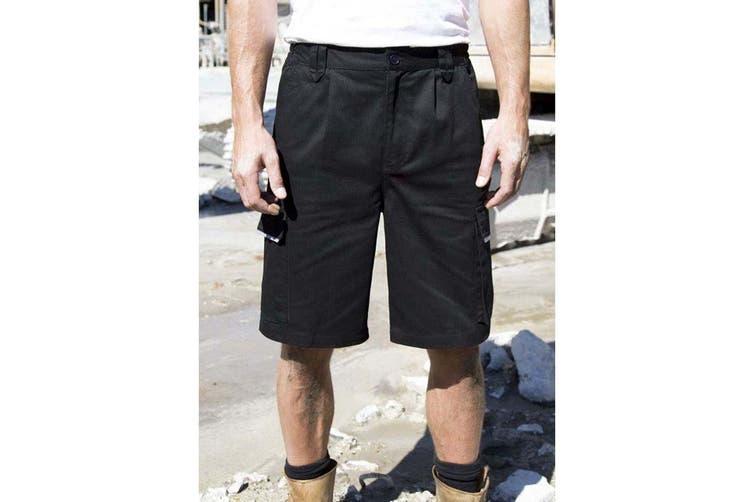 Result Unisex Work-Guard Action Shorts / Workwear (Black) (L)