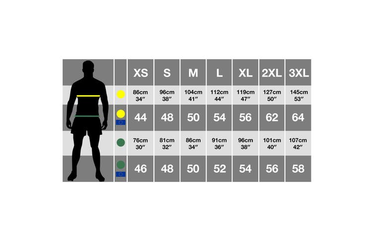 Result Unisex Work-Guard Action Shorts / Workwear (Black) (M)