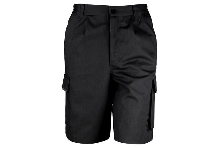 Result Unisex Work-Guard Action Shorts / Workwear (Black) (XL)